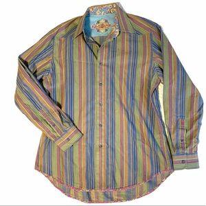 Robert Graham men's size Medium dress shirt button